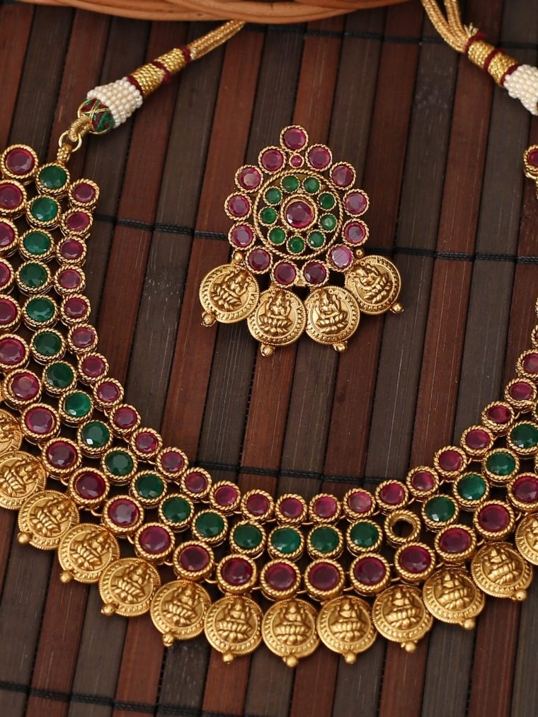 Beautiful Multi Layer Lakshmi Coin Necklace
