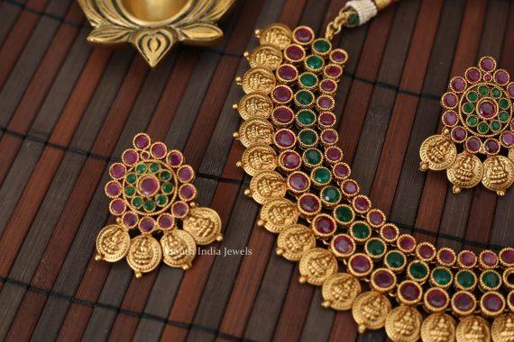 Beautiful Multi Layer Lakshmi Coin Necklace