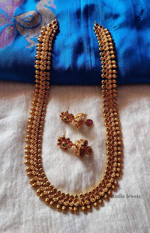 Beautiful Peacock Design Haram Set