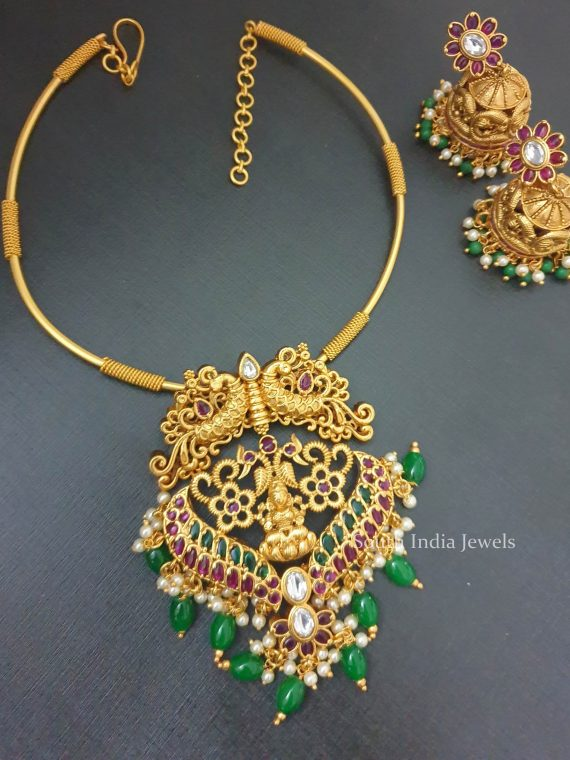 Beautiful Peacock Design Kante Necklace