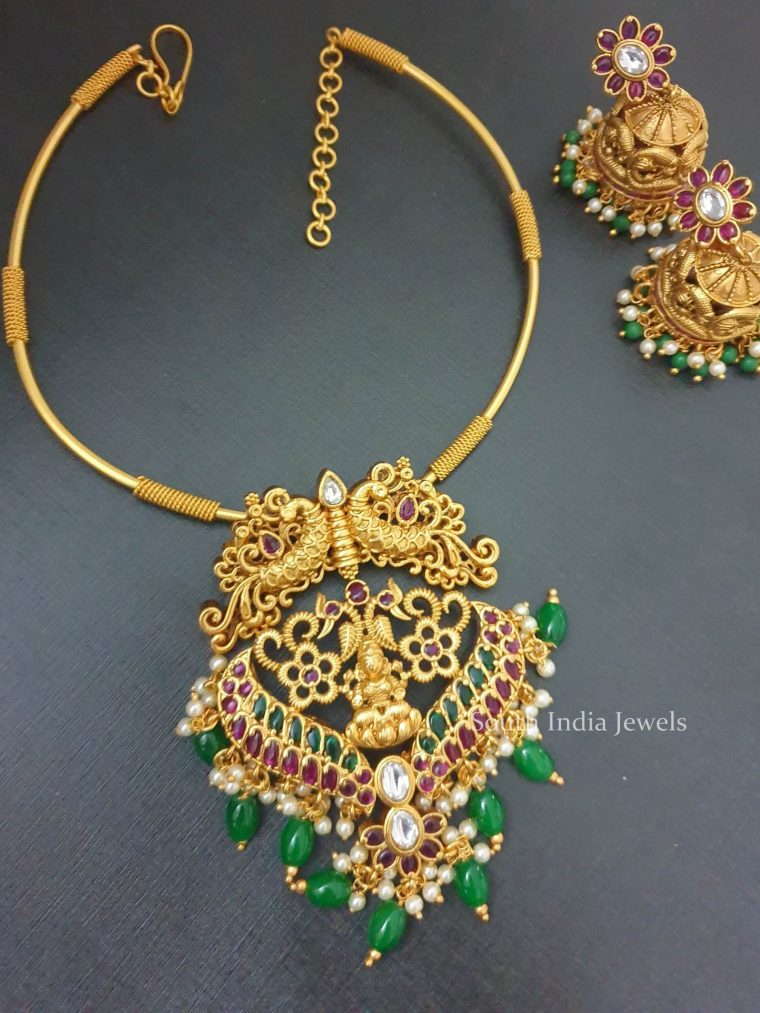 Beautiful Peacock Design Kante Necklace