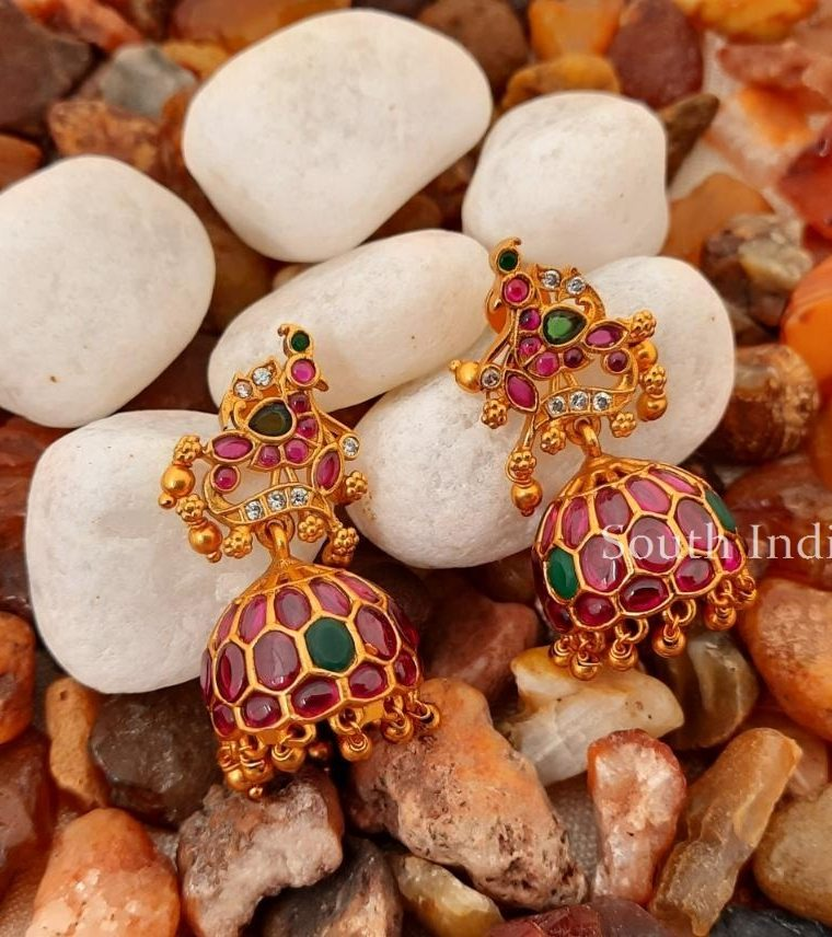 Beautiful-Peacock-Design-Kemp-Jhumkas