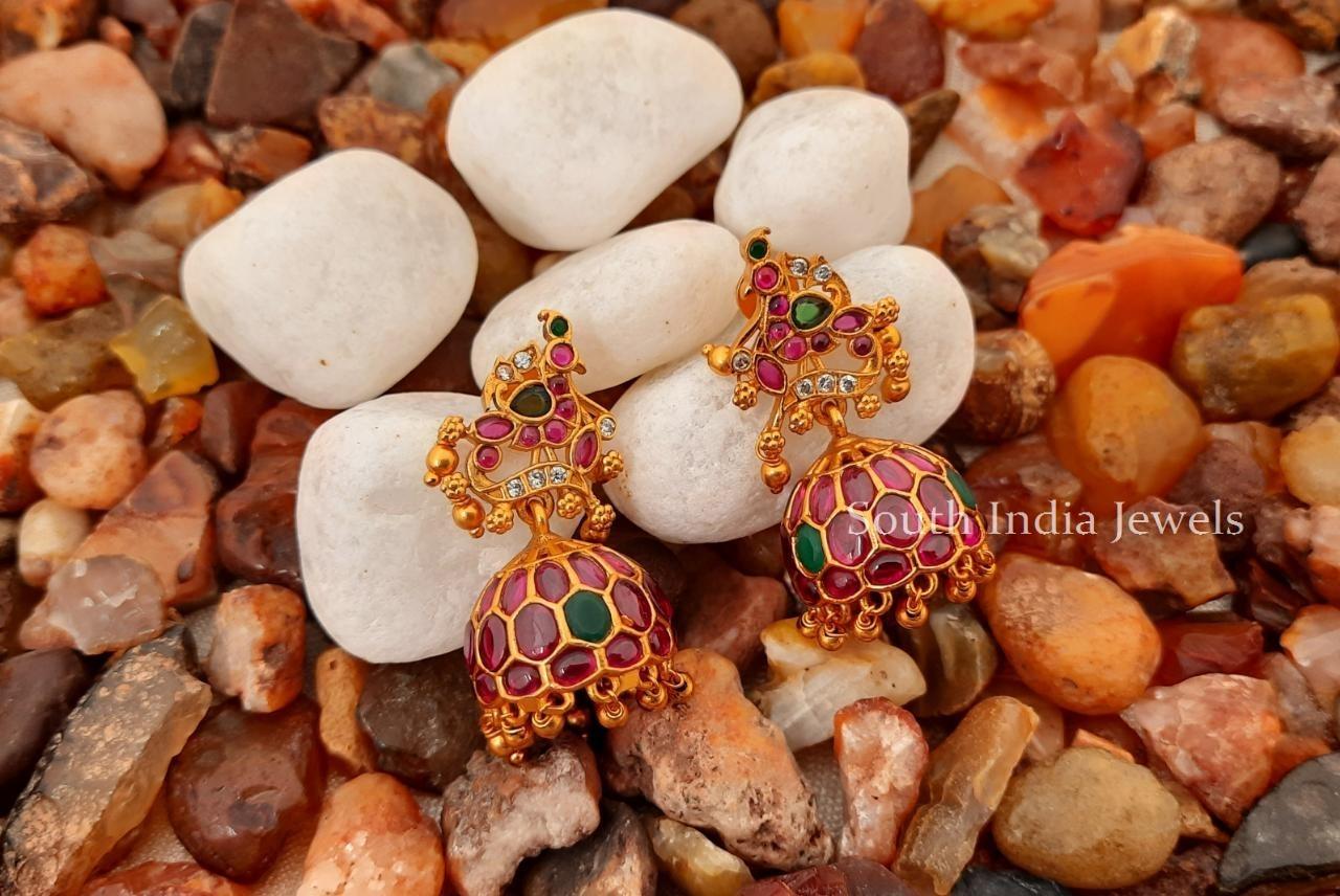 Beautiful-Peacock-Design-Kemp-Jhumkas