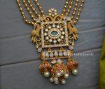 Beautiful Peacock Design Three Layer Haram