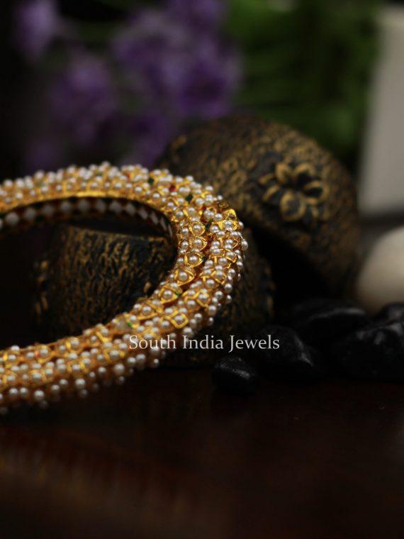 Beautiful Pearl Kada Bangle