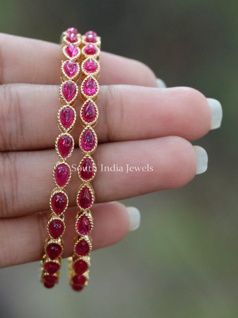 Beautiful Pink Stone Designer Bangles