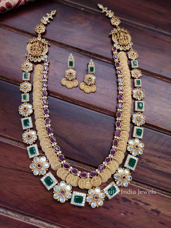 Beautiful Real Kemp Lakshmi Coin Haram