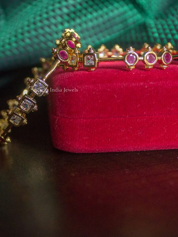 Beautiful Ruby & White Antique Bangles