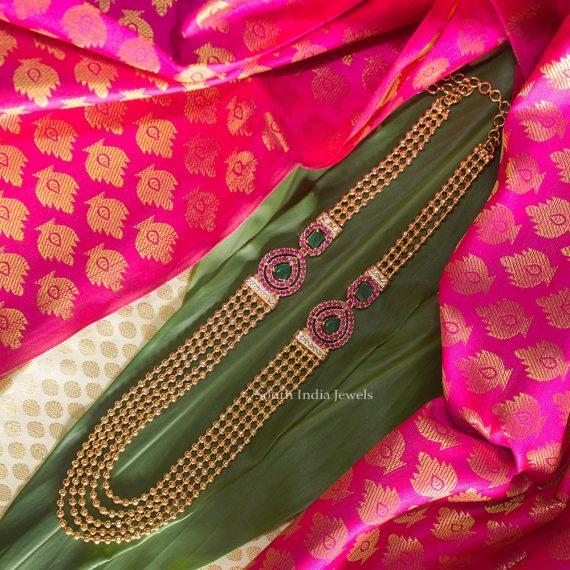 Beautiful Tri Malai Covering Plated Haram