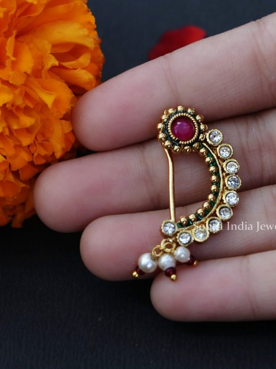 Bridal Wear Maharashtrian Nose Pin