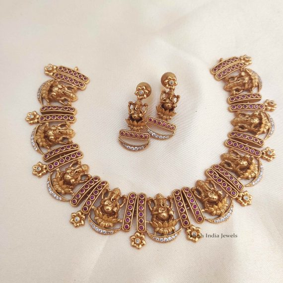 Classic Ganesh Matte Finish Necklace