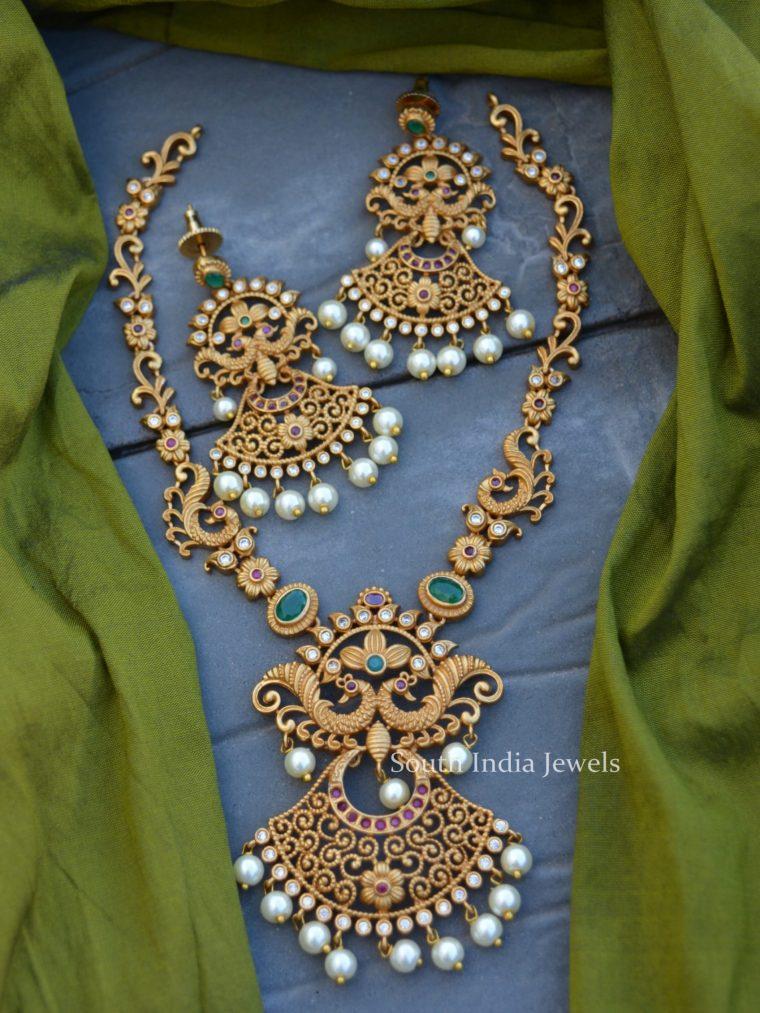 Classy Floral Design Matte Necklace