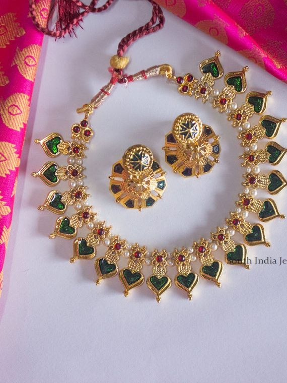 Designer Emerald and Ruby Kemp Necklace
