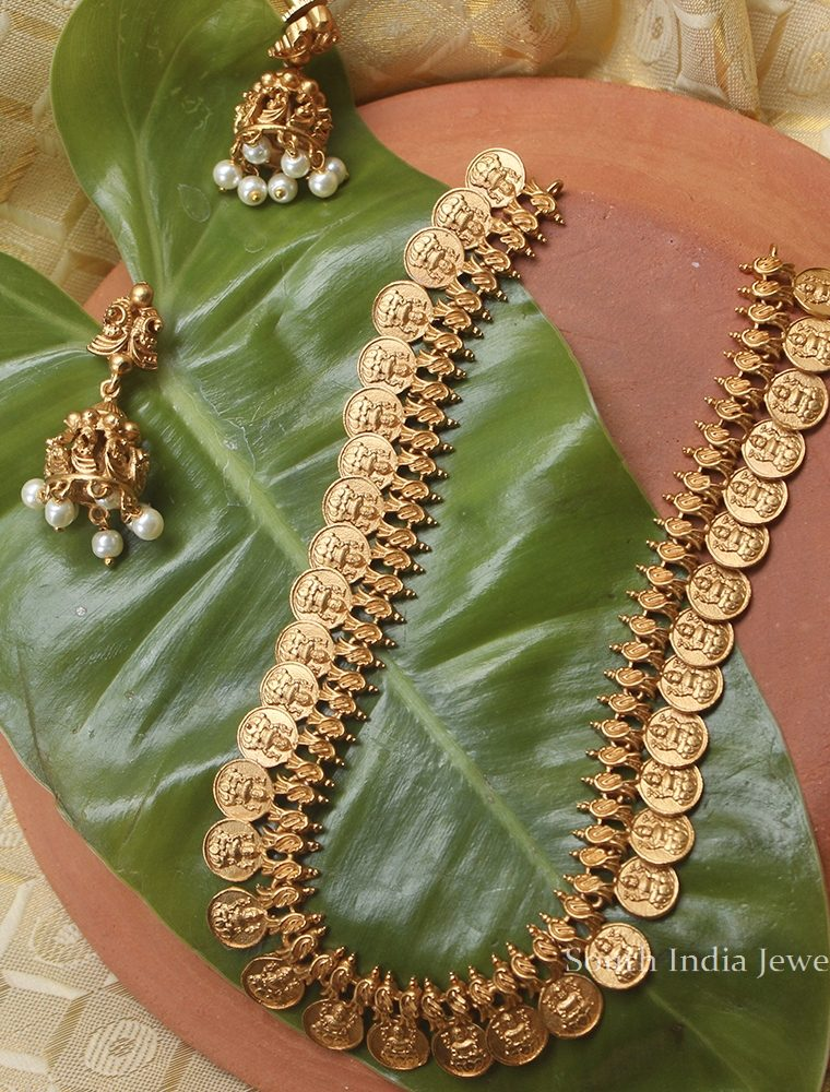 Elegant Antique Lakshmi Coin Necklace