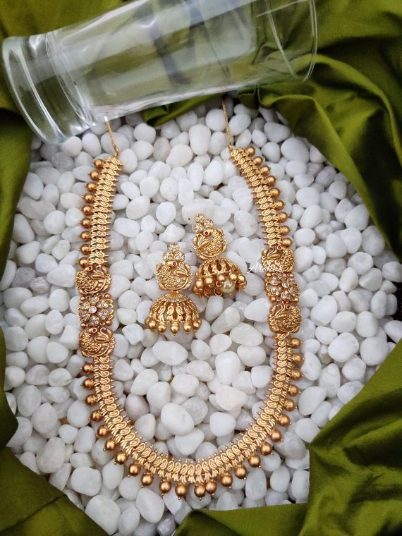 Elegant Antique Necklace With Jhumka