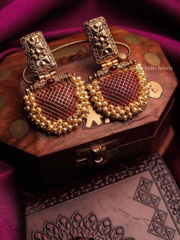 Elegant Antique Rivet Designer Earrings