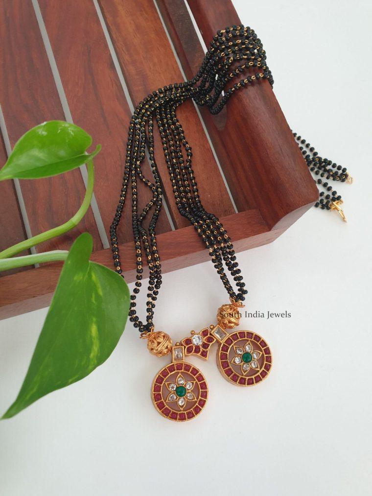 Elegant Black Beads Double Mangalsutra