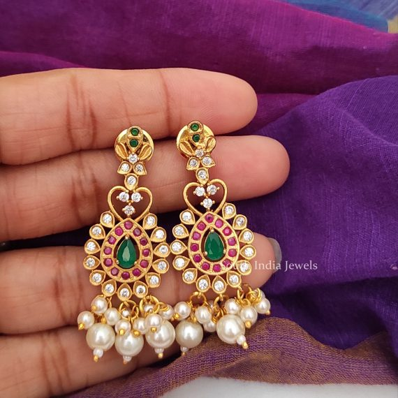 Elegant Cluster Pearls Choker