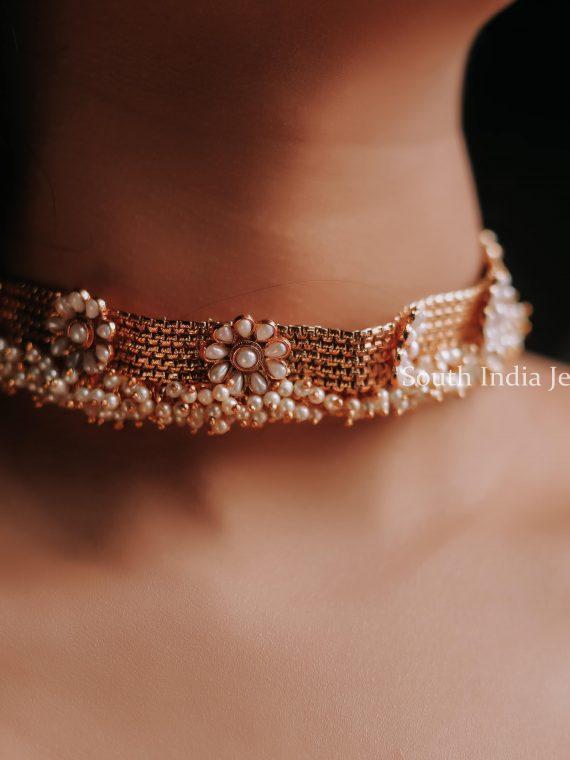 Elegant Designer Pearl Choker