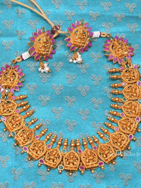 Elegant Lakshmi Design Necklace