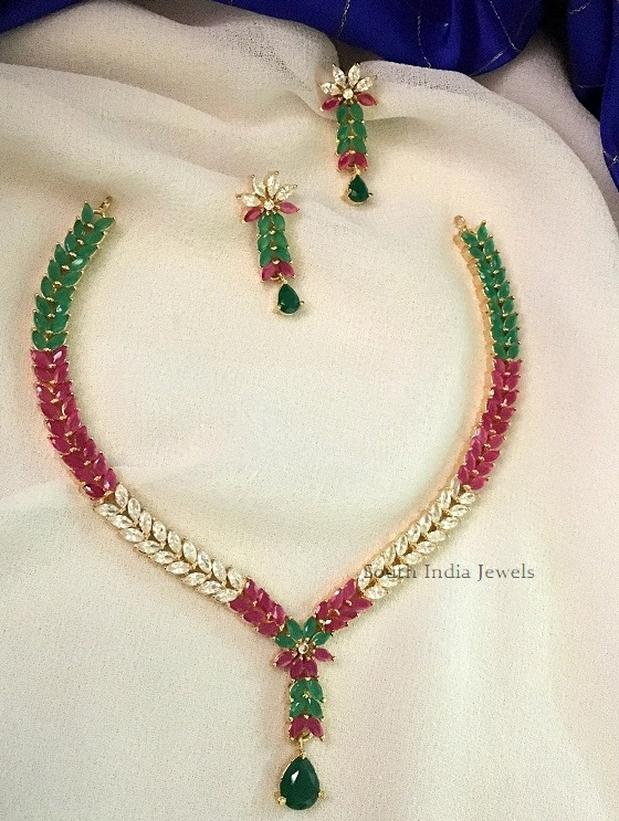 Elegant Multi Stone Necklace Set