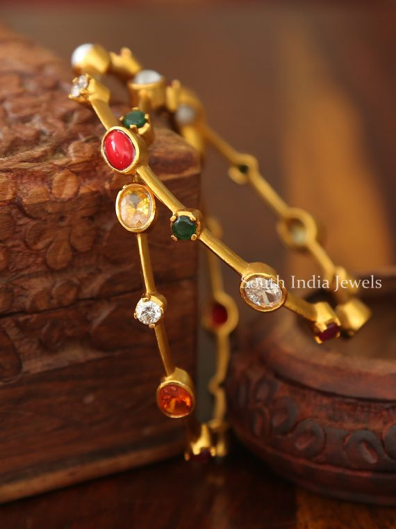 Elegant Navarathna Stone Bangles