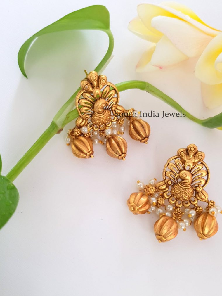 Elegant Peacock Chandbali Earrings