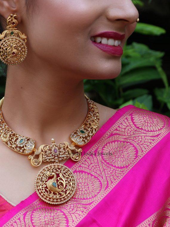 Elegant Peacock Designer Necklace