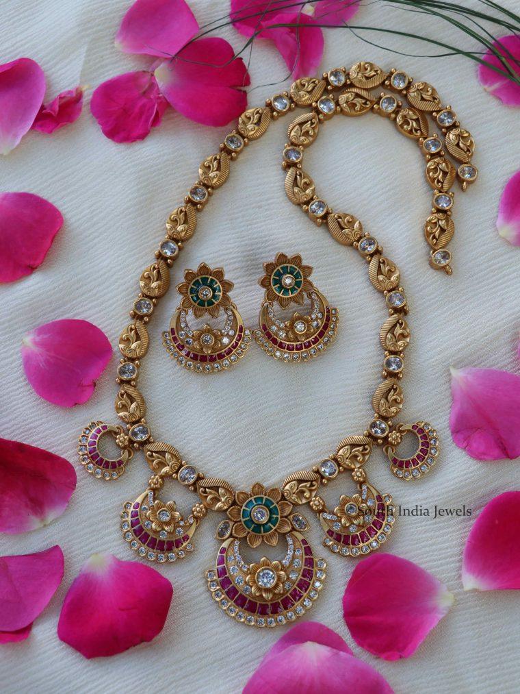 Floral Chandbali Design Haram-01