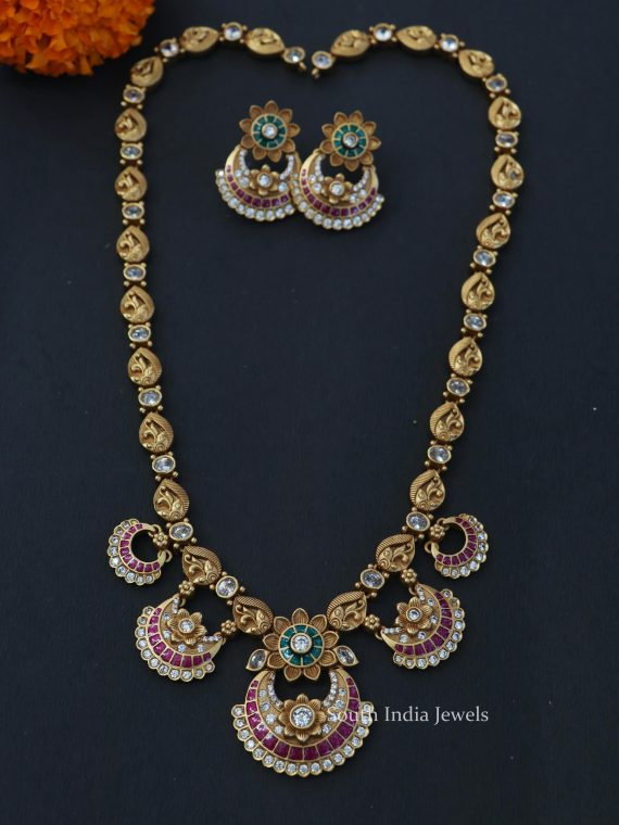 Floral Chandbali Design Haram