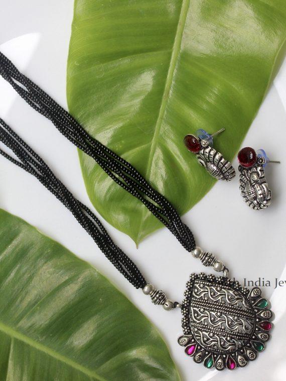 German Silver Kolhapuri Necklace Set