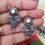 German Silver Lakshmi Coin Necklace