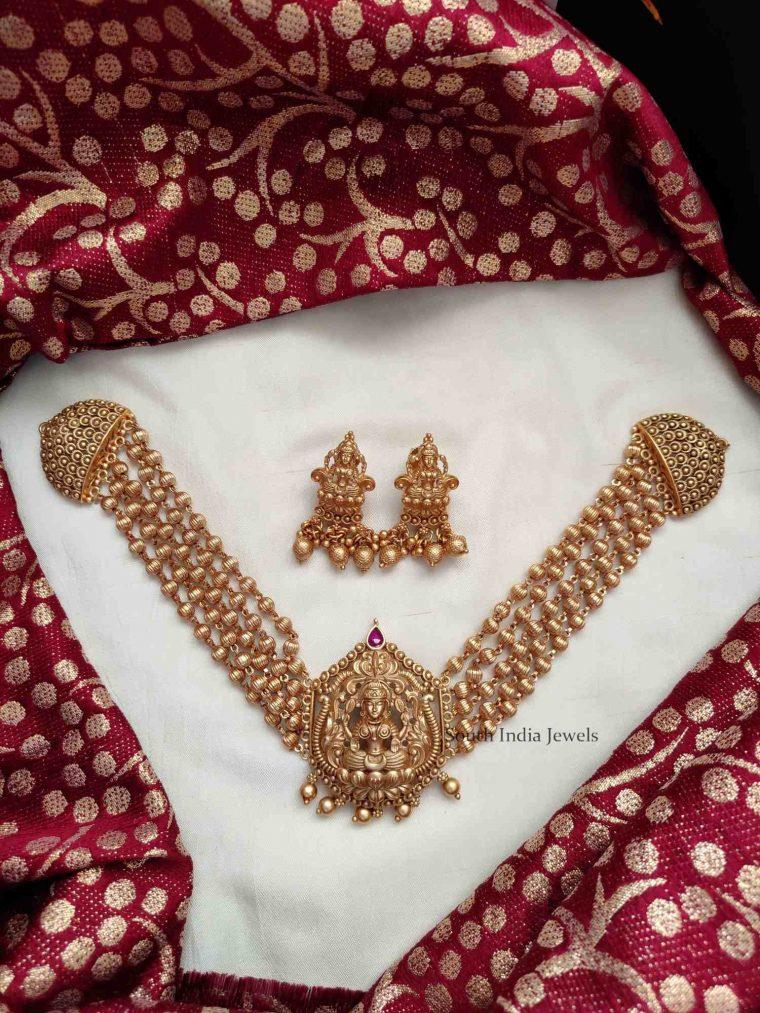 Gold Look Lakshmi Pendant Choker