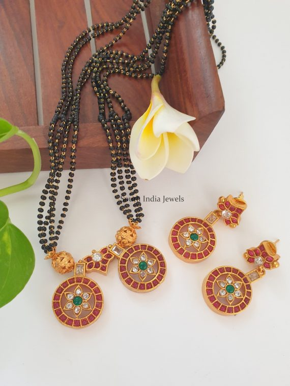 Gorgeous Black Beads Mangal Sutra Set
