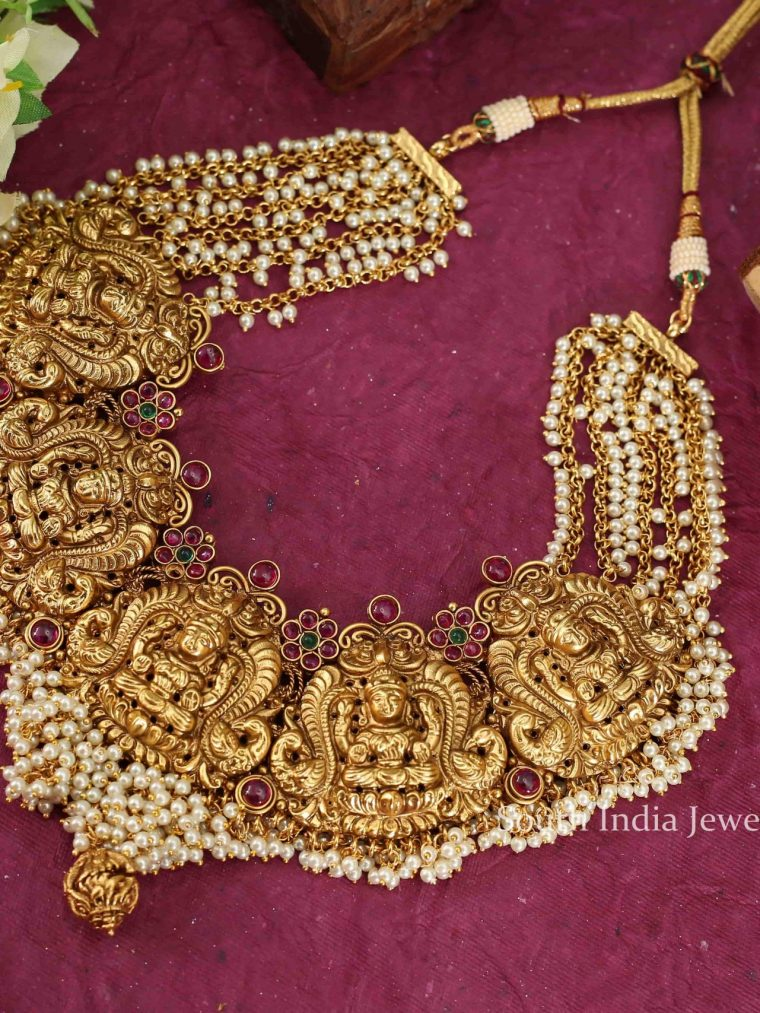 Grand Bridal Lakshmi Necklace