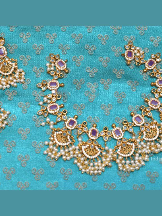 Grand Guttapusalu Necklace with Earrings
