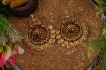 Grand Lakshmi Coin Chandbali Earrings