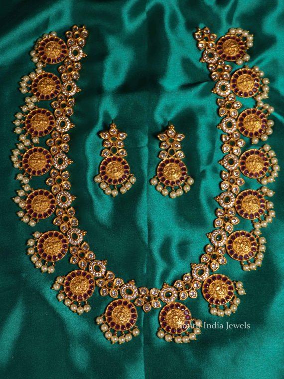 Grand Lakshmi Coin Multi Stone Haram