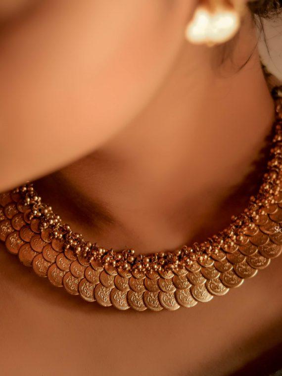 Grand Three Layer Lakshmi Coin Necklace