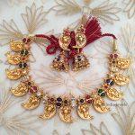 Imitation Ganesh Multi Stone Necklace