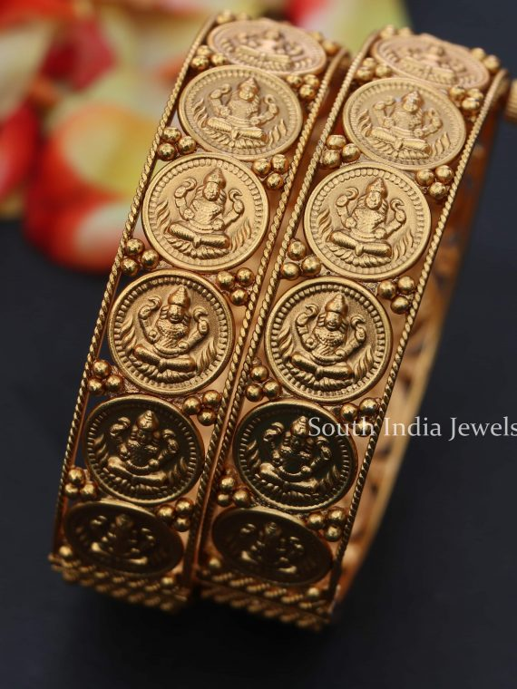 Imitation Matte Finish Lakshmi Bangles