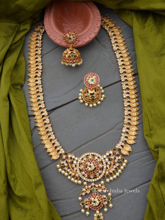 Imitation Matte Finish Lakshmi Haram