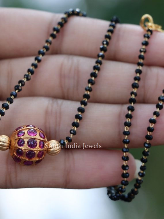 Kemp Stone Ball Crystal Beads Mangalsutra