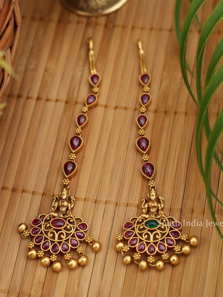 Lakshmi Design Golden Beads Maang Tikka
