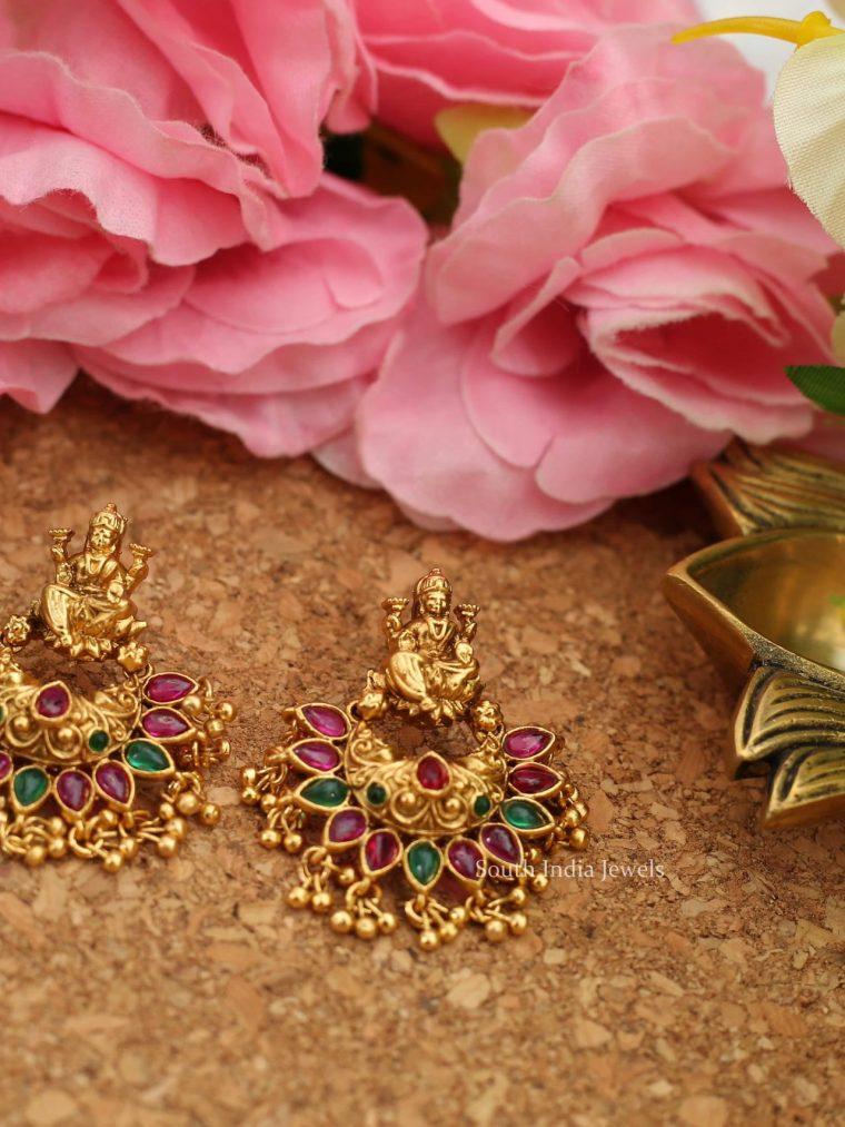 Lakshmi Kemp Earrings with Gold Beads