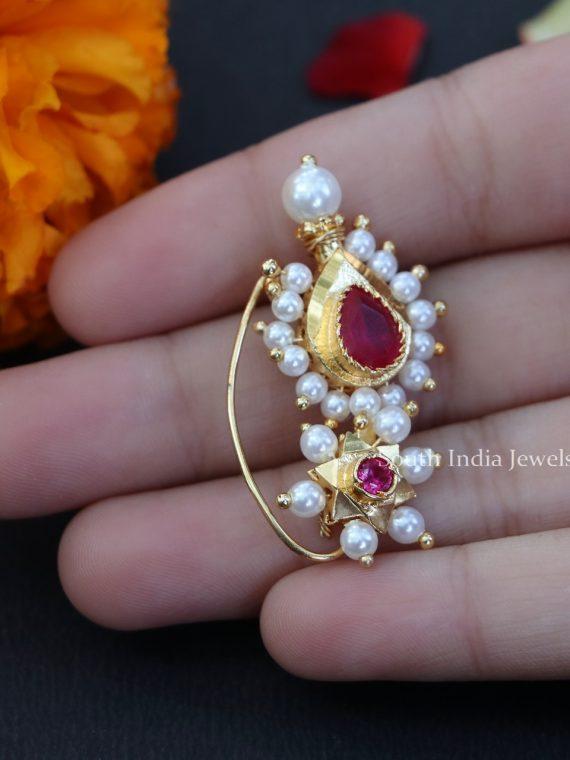 Latest Maharashtrian Designer Nose Pin