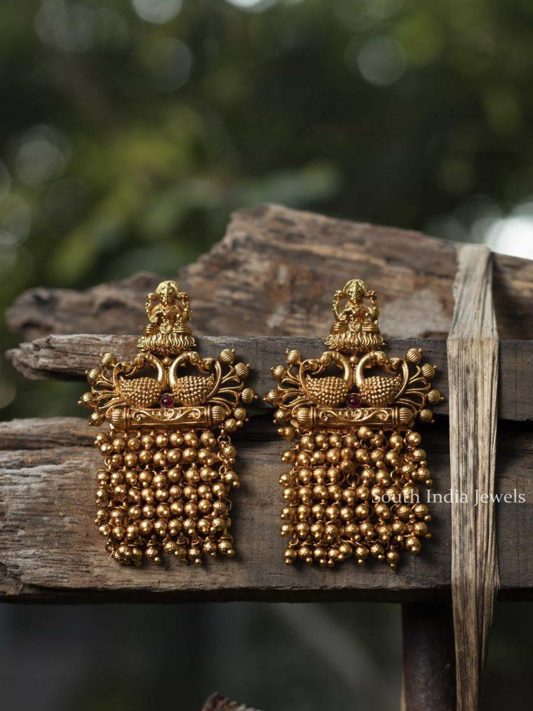 Peacock Design Ghungroo Earrings