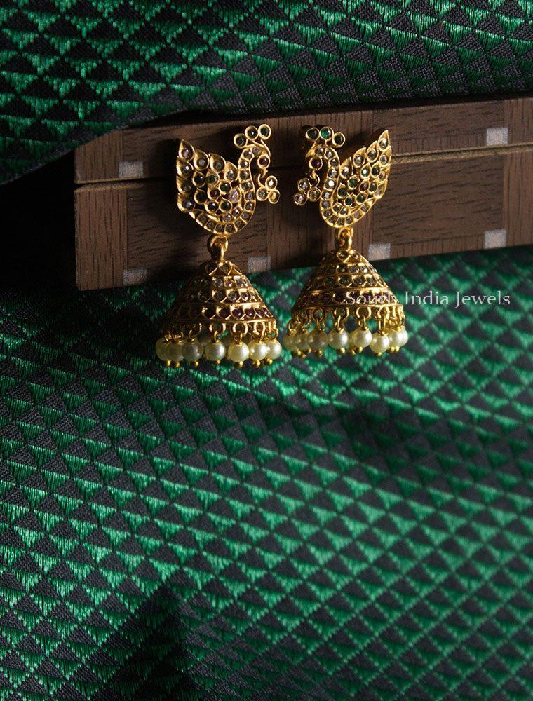Premium Antique Peacock Design Earrings