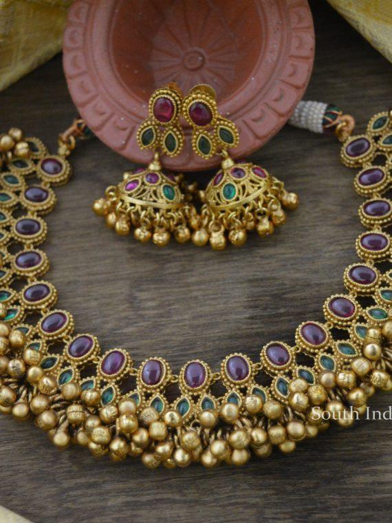 Premium Quality Kemp & Green Antique Necklace