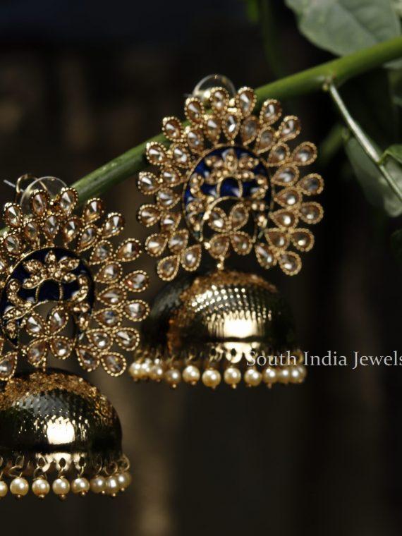 Premium Quality Pearl & Kundan Jhumka